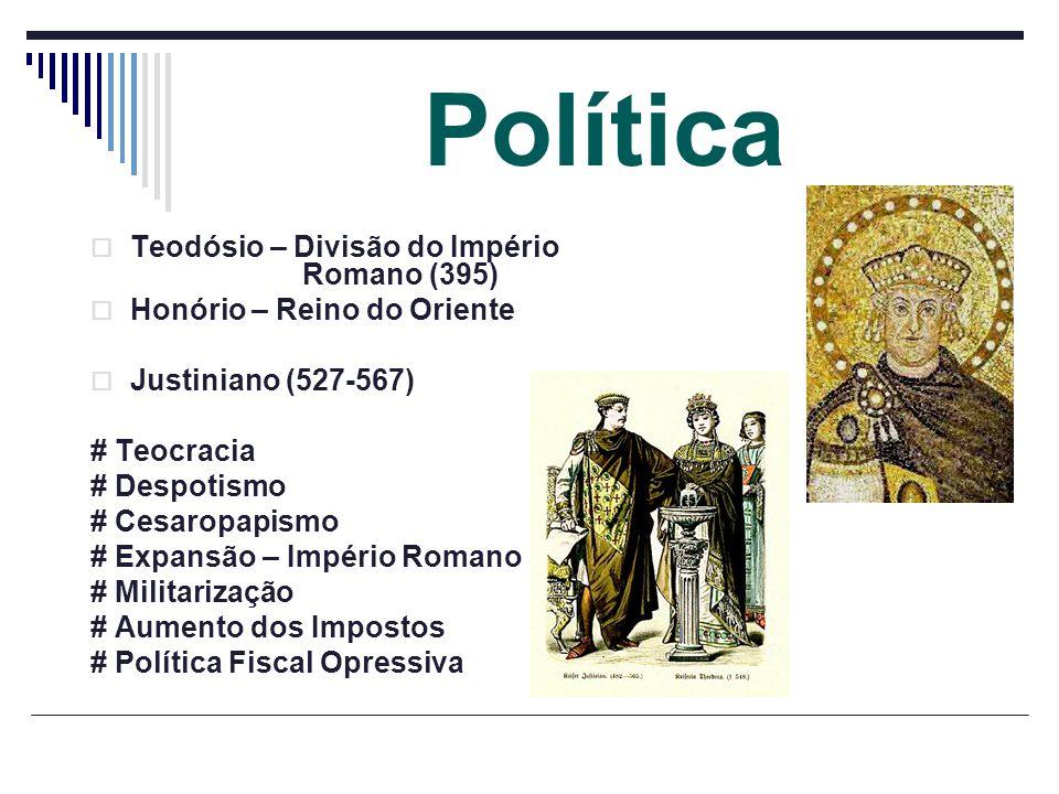 Política Teodósio – Divisão do Império Romano (395)