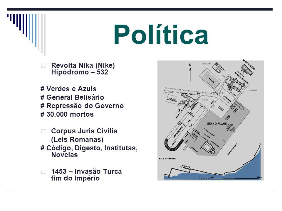 Política Revolta Nika (Nike) Hipódromo – 532 # Verdes e Azuis