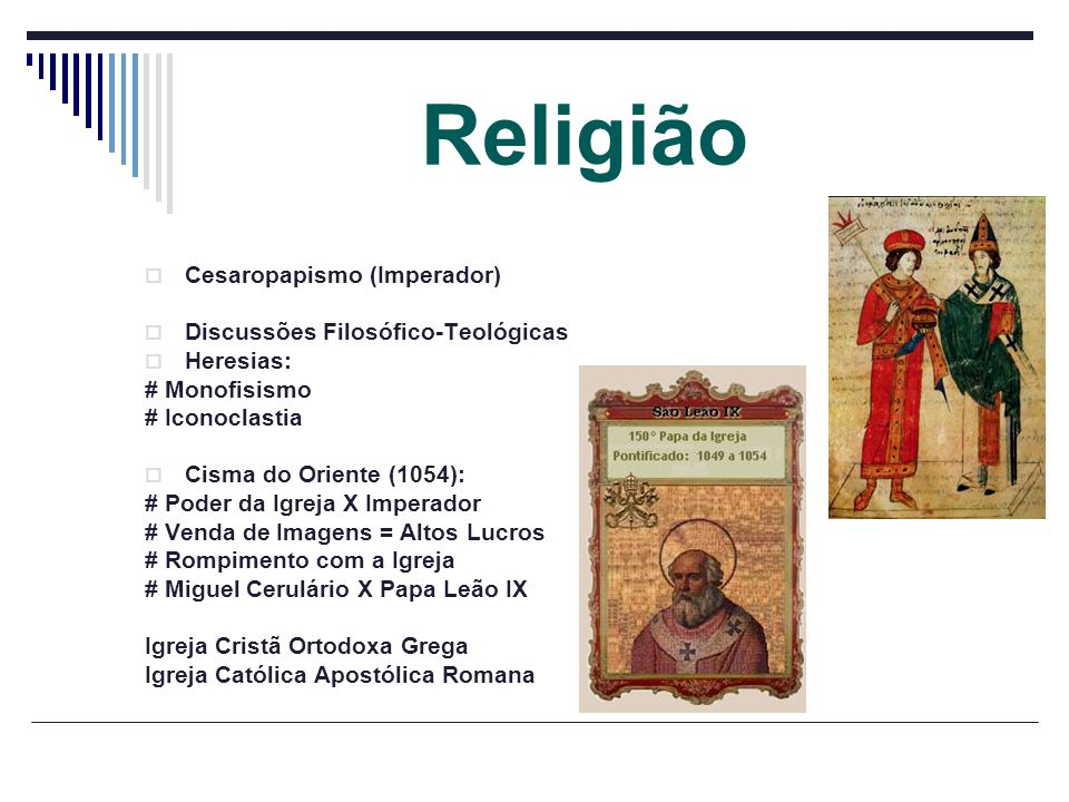 Religião Cesaropapismo (Imperador) Discussões Filosófico-Teológicas