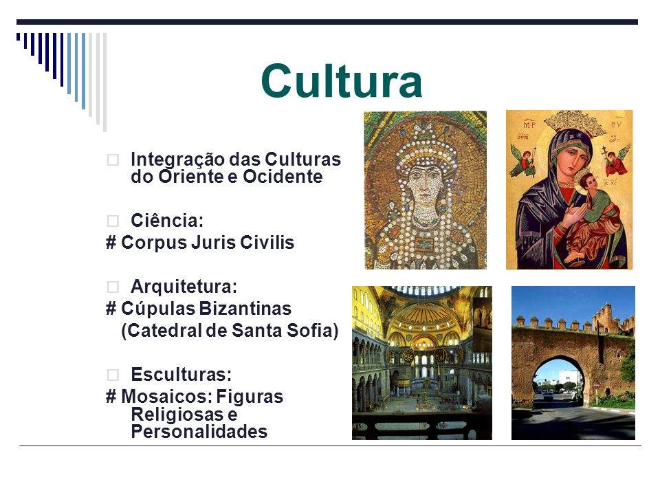 Cultura Integração das Culturas do Oriente e Ocidente Ciência: