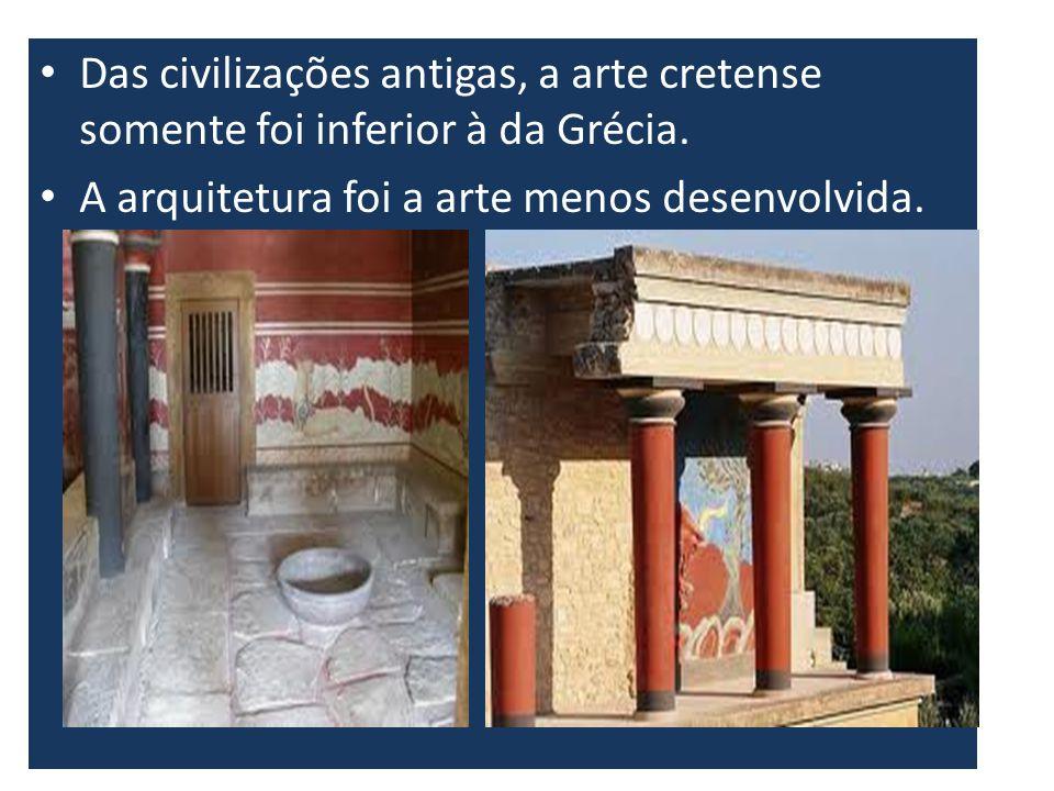 Das civilizações antigas, a arte cretense somente foi inferior à da Grécia.