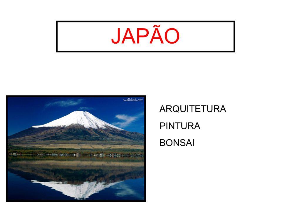 JAPÃO ARQUITETURA PINTURA BONSAI