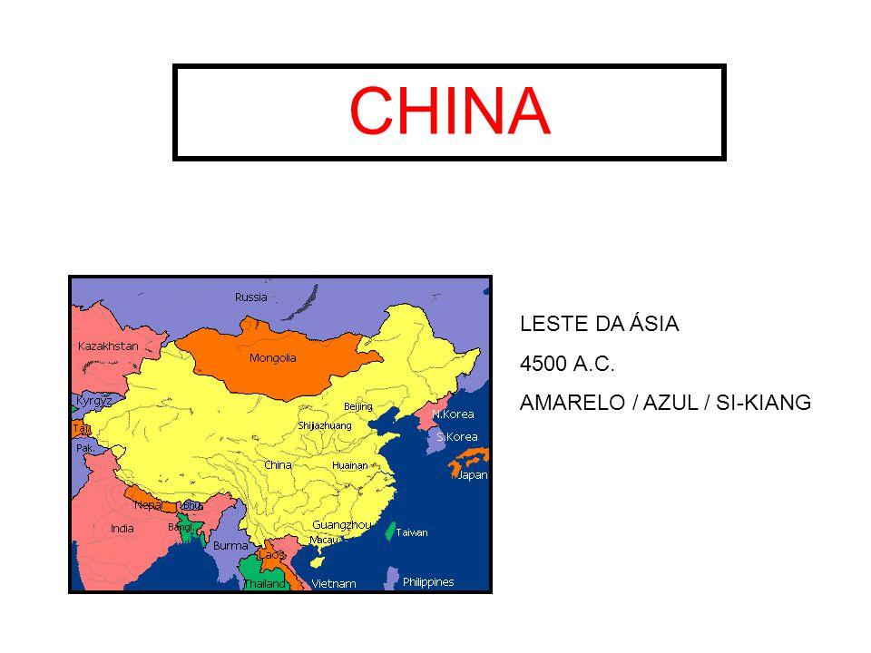 CHINA LESTE DA ÁSIA 4500 A.C. AMARELO / AZUL / SI-KIANG