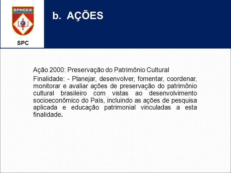 b. AÇÕES Ação 2000: Preservação do Patrimônio Cultural