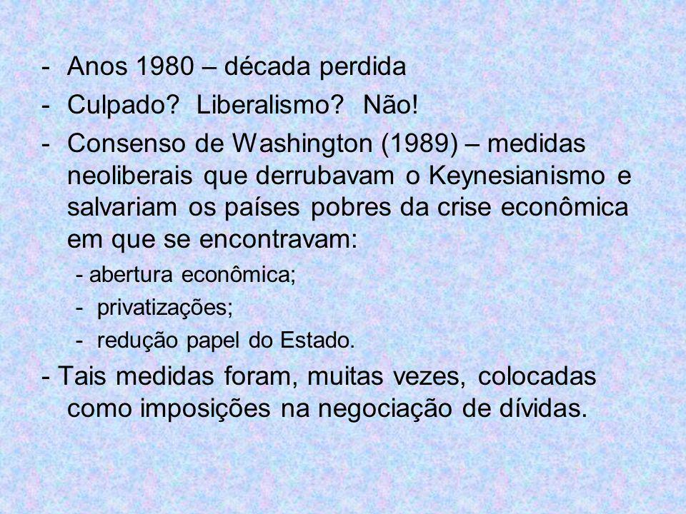 Culpado Liberalismo Não!