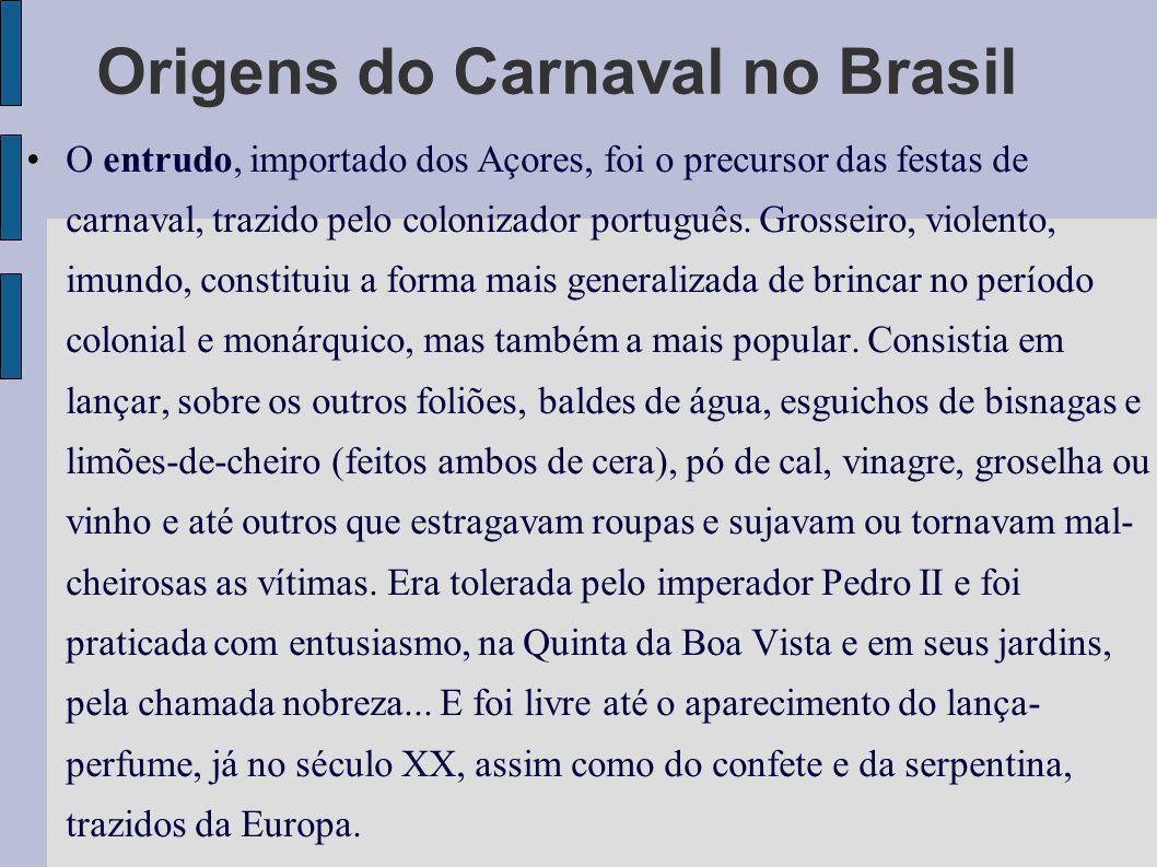 Origens do Carnaval no Brasil