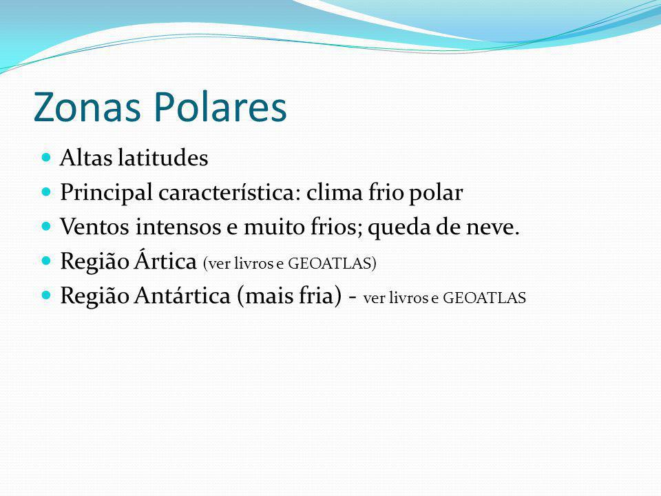 Zonas Polares Altas latitudes