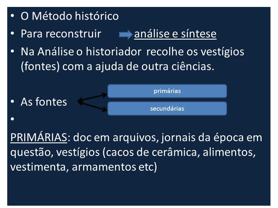 Para reconstruir análise e síntese