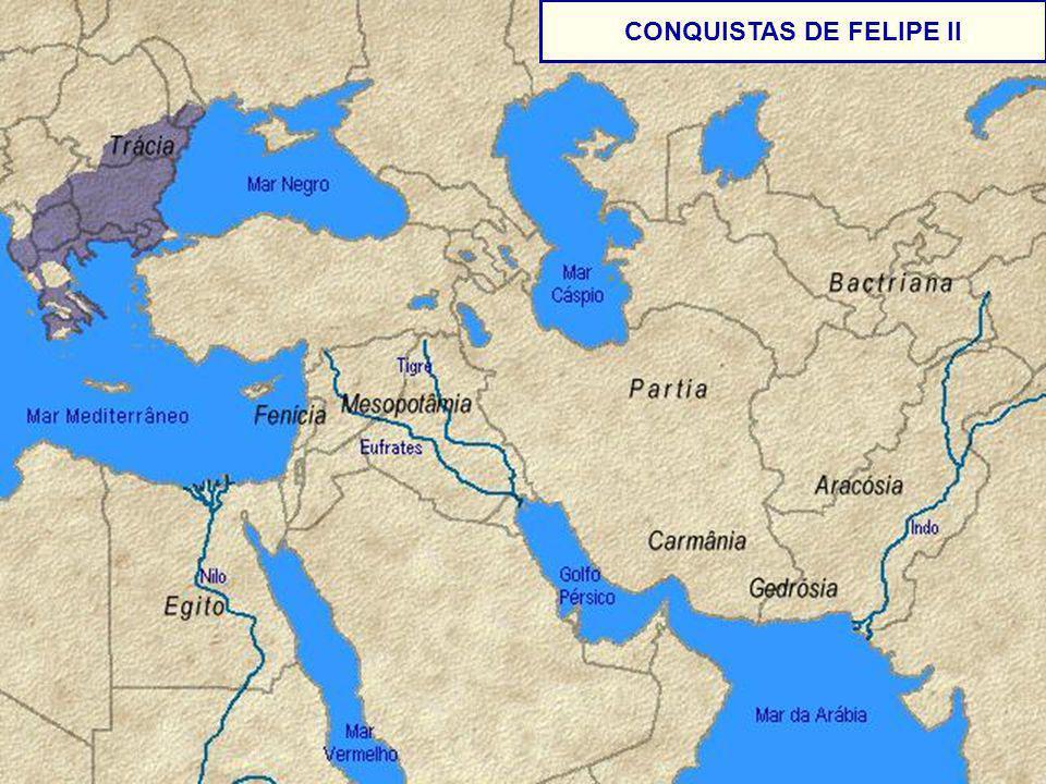 CONQUISTAS DE FELIPE II