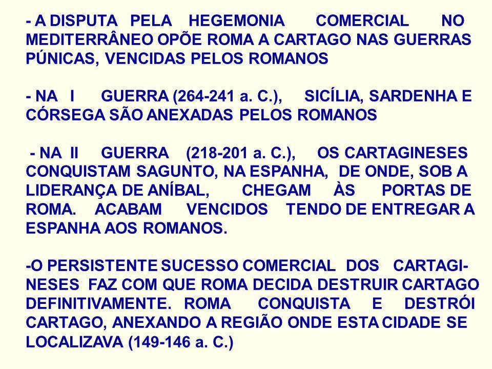 - A DISPUTA PELA HEGEMONIA COMERCIAL NO