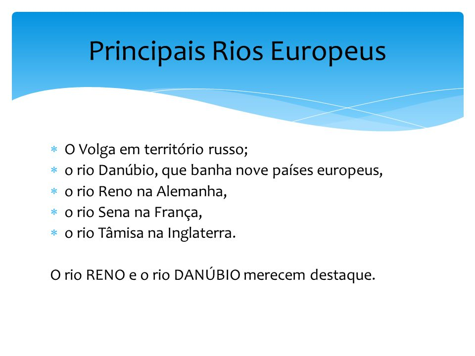Principais Rios Europeus