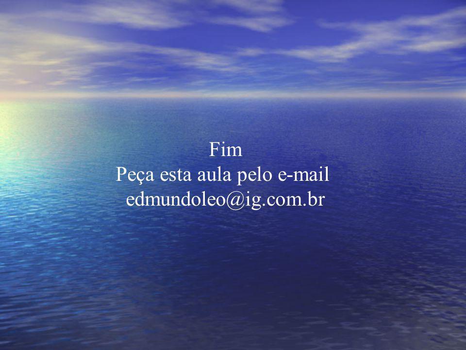Fim Peça esta aula pelo e-mail edmundoleo@ig.com.br
