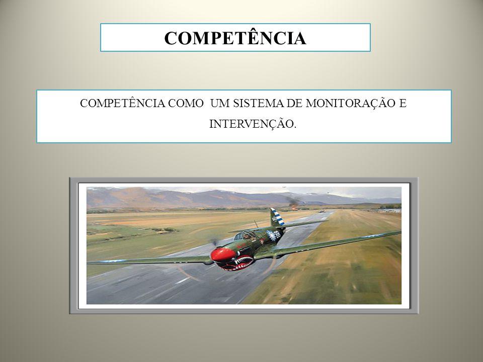 COMPETÊNCIA COMO UM SISTEMA DE MONITORAÇÃO E INTERVENÇÃO.