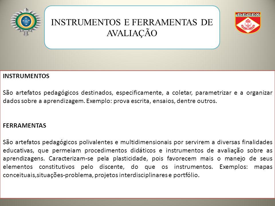 INSTRUMENTOS E FERRAMENTAS DE AVALIAÇÃO