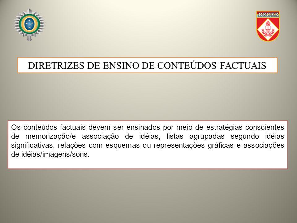 DIRETRIZES DE ENSINO DE CONTEÚDOS FACTUAIS
