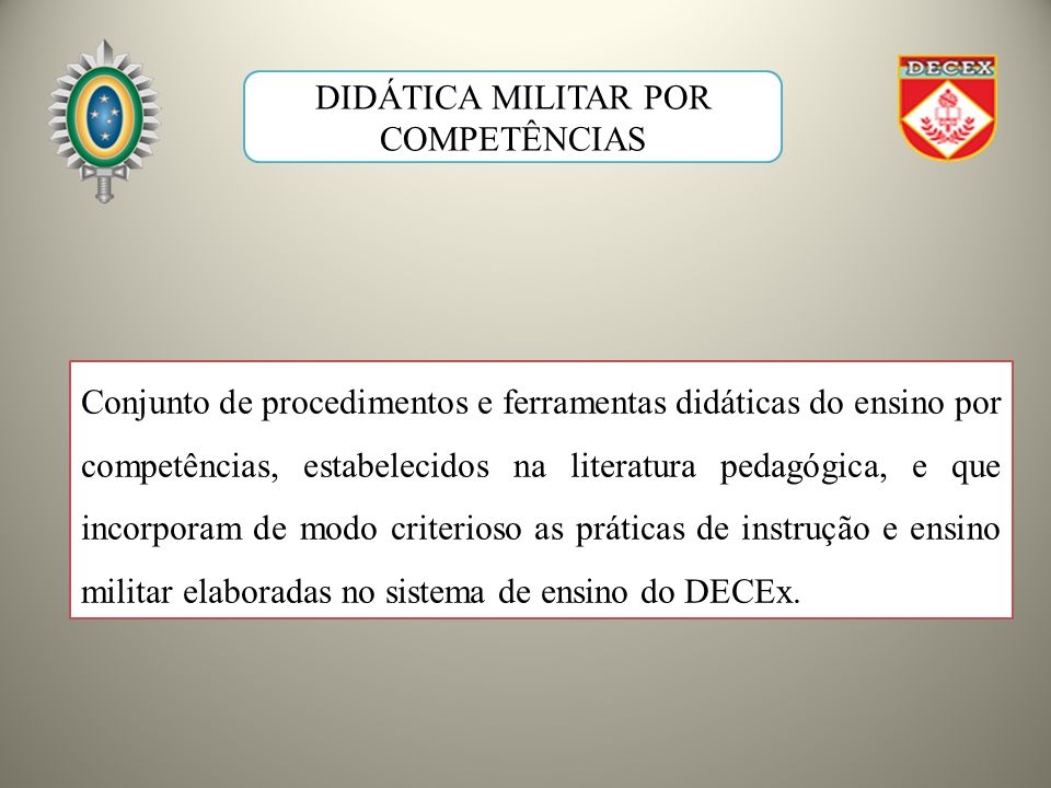 DIDÁTICA MILITAR POR COMPETÊNCIAS