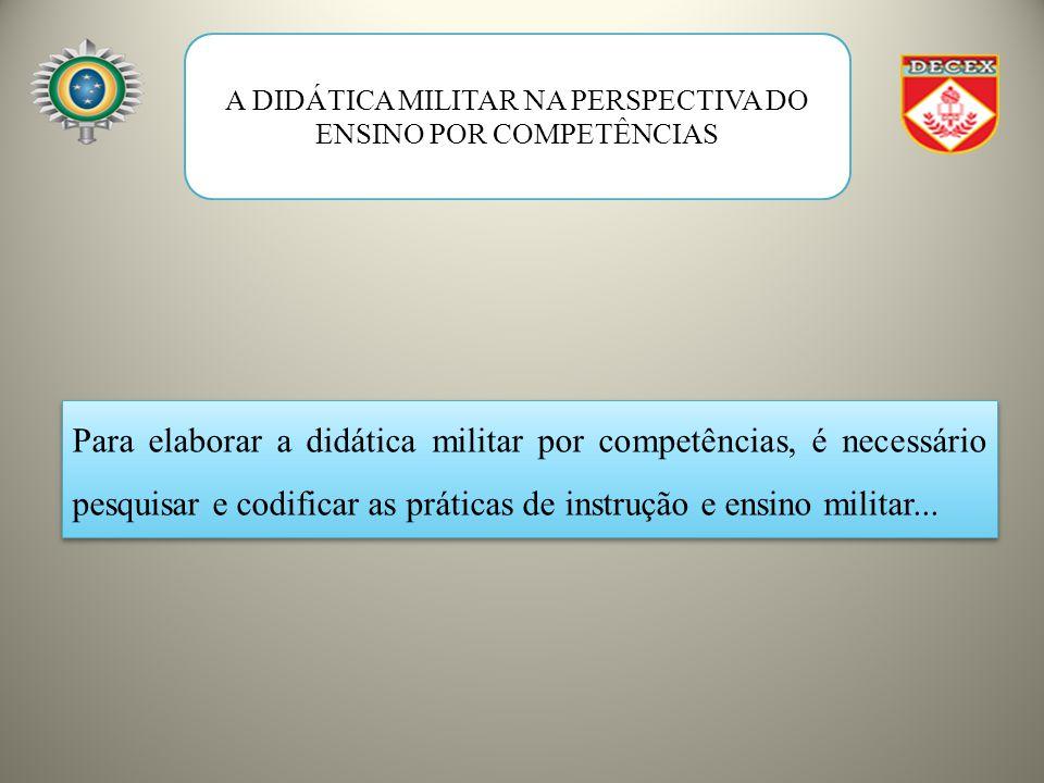 A DIDÁTICA MILITAR NA PERSPECTIVA DO ENSINO POR COMPETÊNCIAS