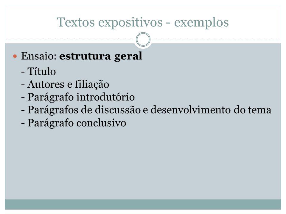 Textos expositivos - exemplos