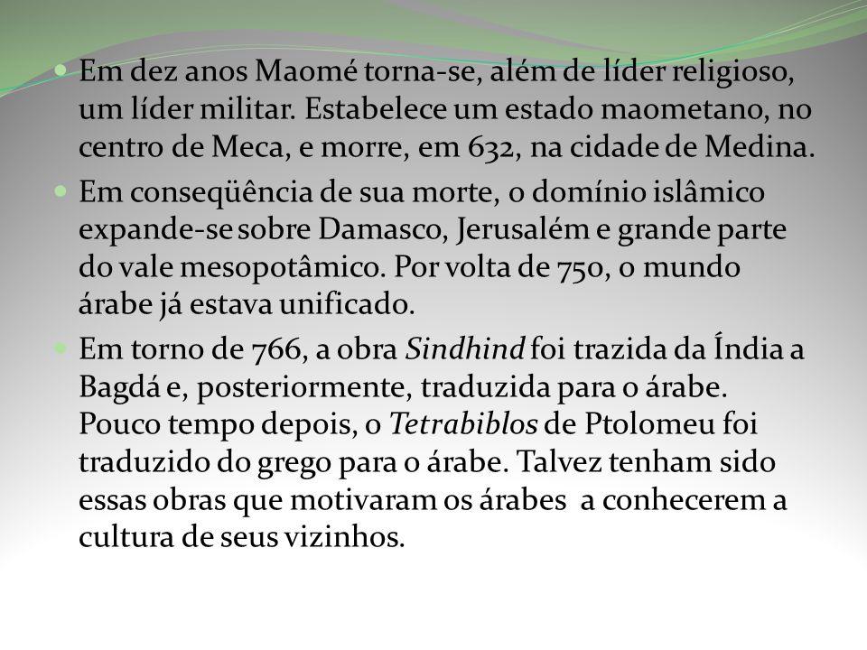 Em dez anos Maomé torna-se, além de líder religioso, um líder militar