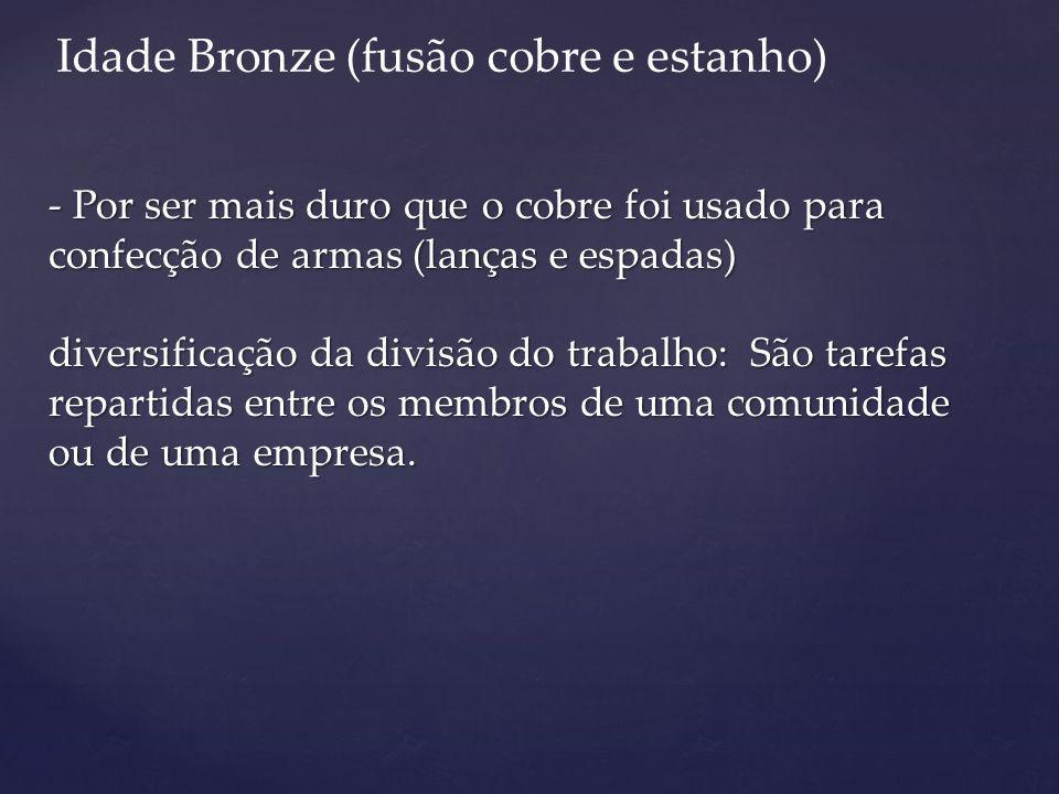 Idade Bronze (fusão cobre e estanho)