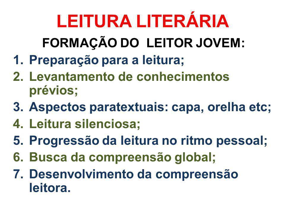 FORMAÇÃO DO LEITOR JOVEM: