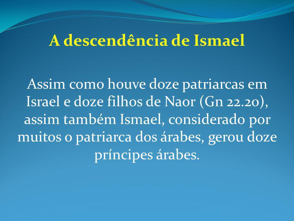 A descendência de Ismael
