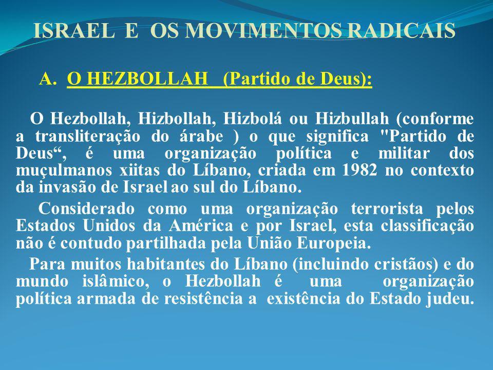 ISRAEL E OS MOVIMENTOS RADICAIS