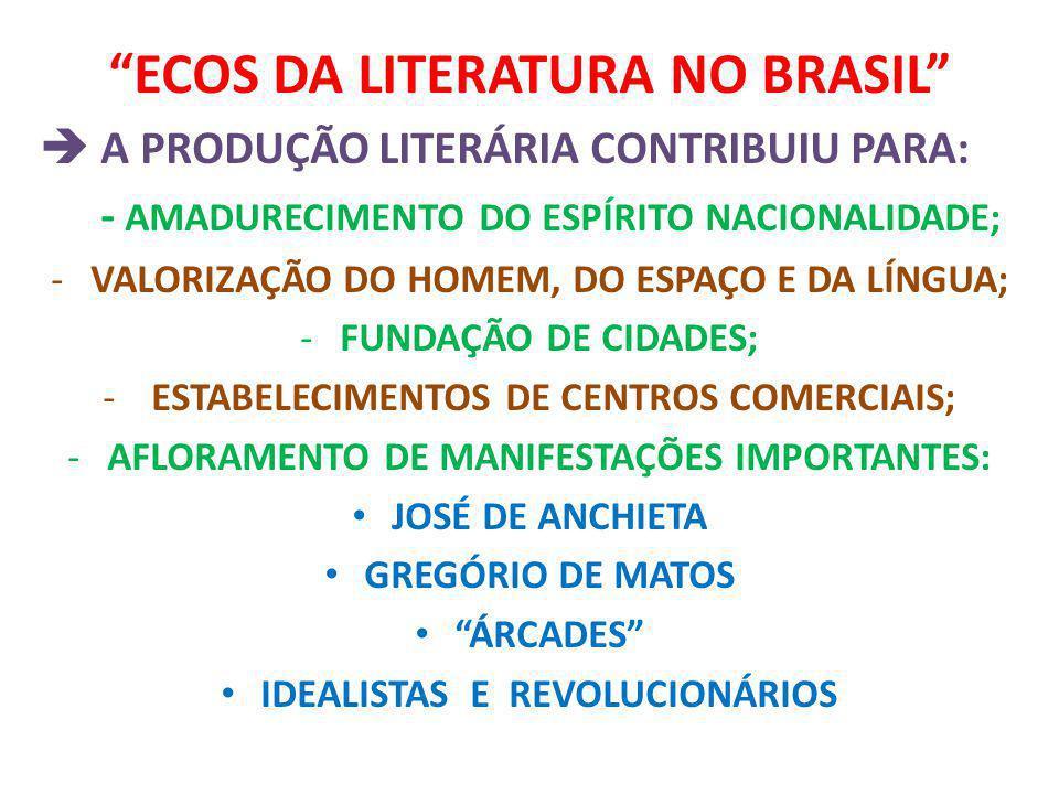 ECOS DA LITERATURA NO BRASIL