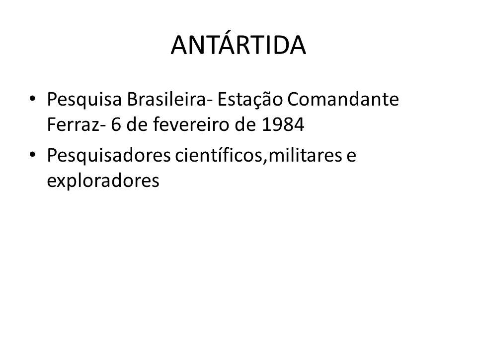 ANTÁRTIDA Pesquisa Brasileira- Estação Comandante Ferraz- 6 de fevereiro de 1984.