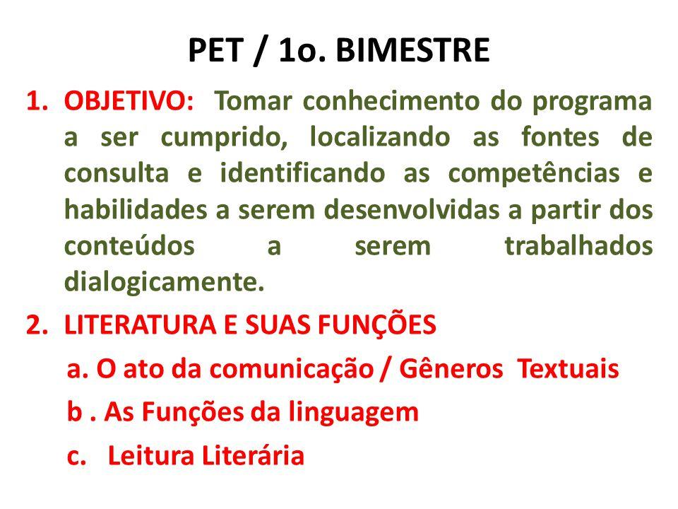 PET / 1o. BIMESTRE