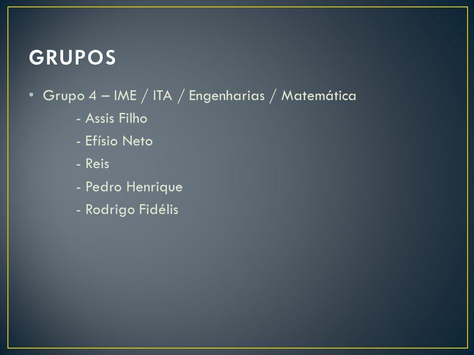 GRUPOS Grupo 4 – IME / ITA / Engenharias / Matemática - Assis Filho