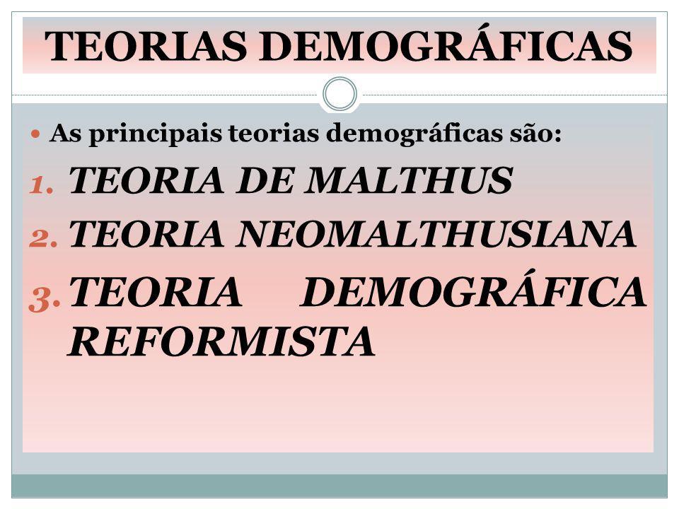 TEORIA DEMOGRÁFICA REFORMISTA
