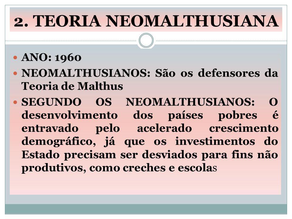 2. TEORIA NEOMALTHUSIANA