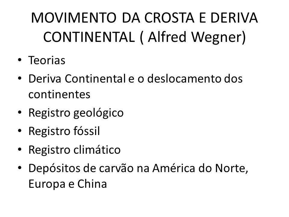 MOVIMENTO DA CROSTA E DERIVA CONTINENTAL ( Alfred Wegner)