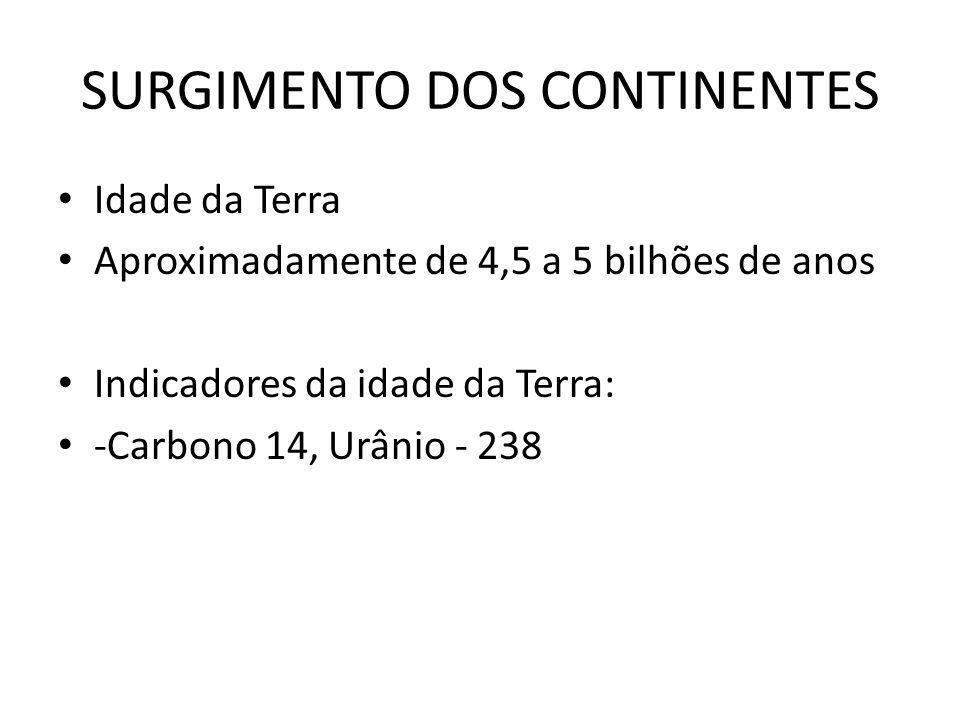 SURGIMENTO DOS CONTINENTES