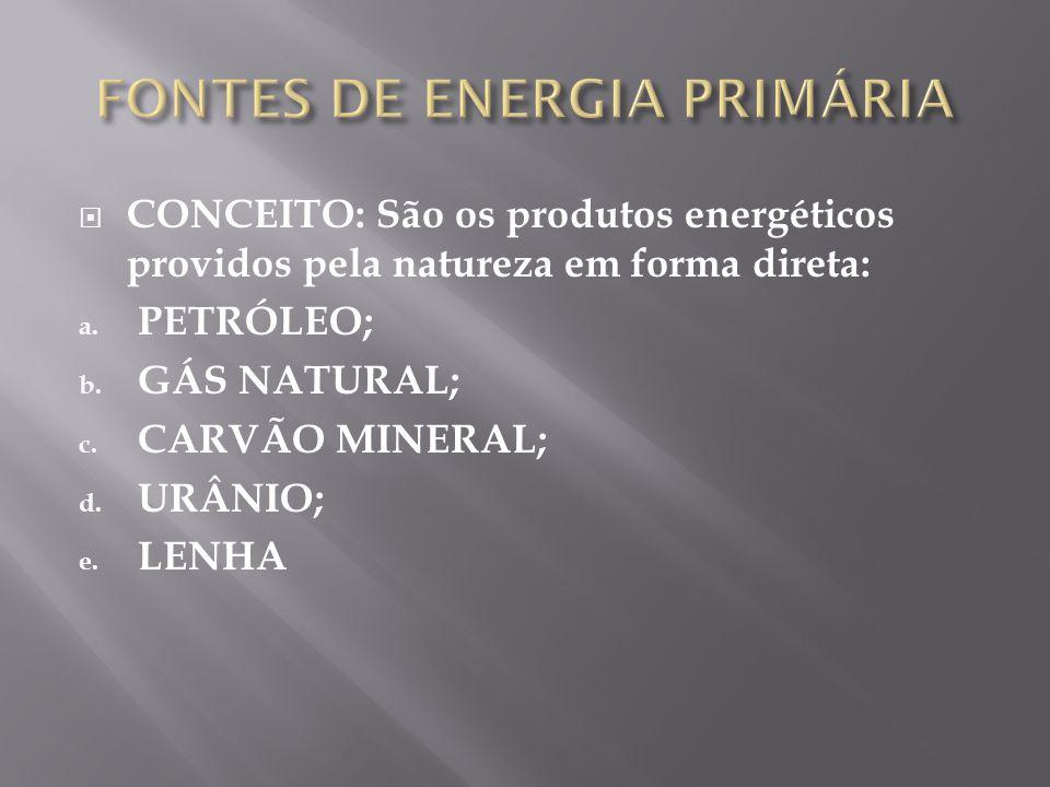 FONTES DE ENERGIA PRIMÁRIA