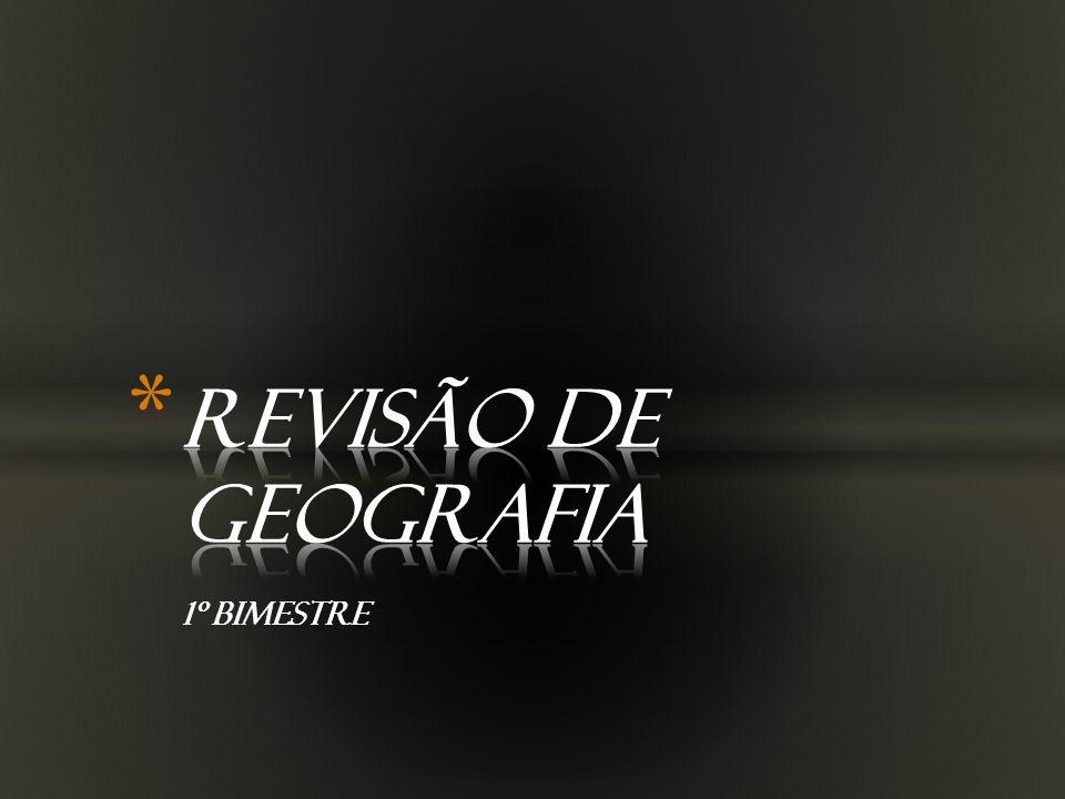 REVISÃO DE GEOGRAFIA 1º BIMESTRE