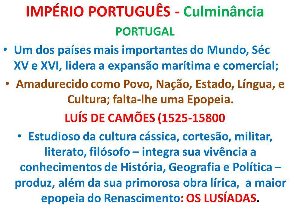 IMPÉRIO PORTUGUÊS - Culminância