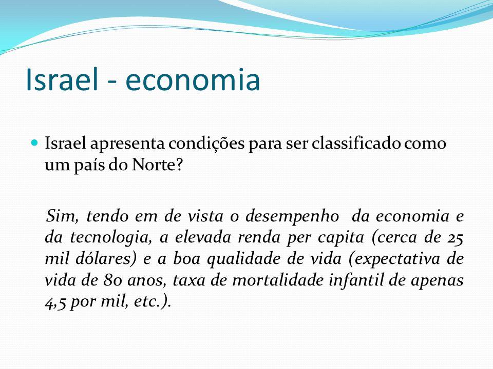 Israel - economia Israel apresenta condições para ser classificado como um país do Norte