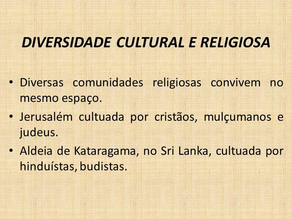 DIVERSIDADE CULTURAL E RELIGIOSA