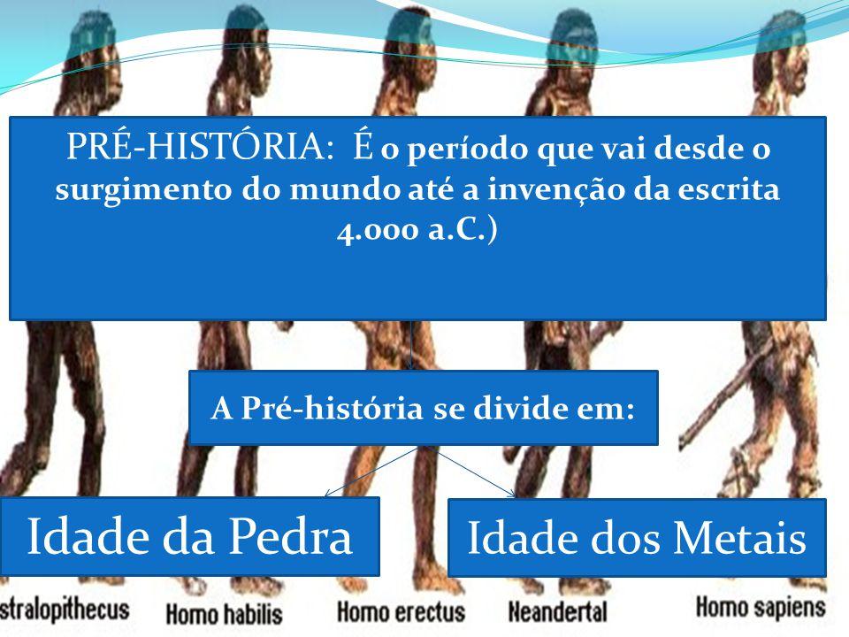 A Pré-história se divide em: