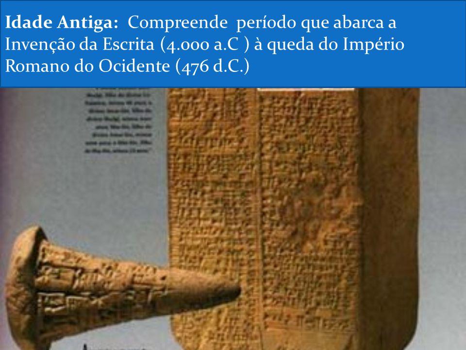 Idade Antiga: Compreende período que abarca a Invenção da Escrita (4