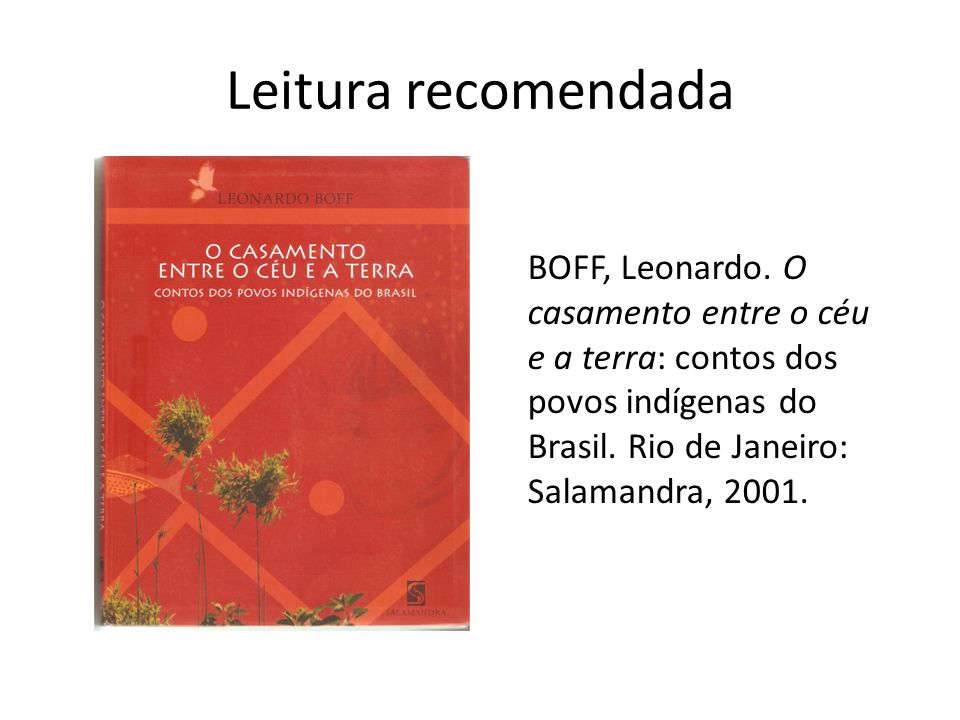 Leitura recomendada BOFF, Leonardo.