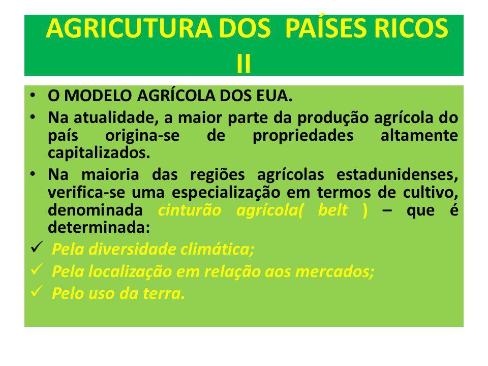 AGRICUTURA DOS PAÍSES RICOS II