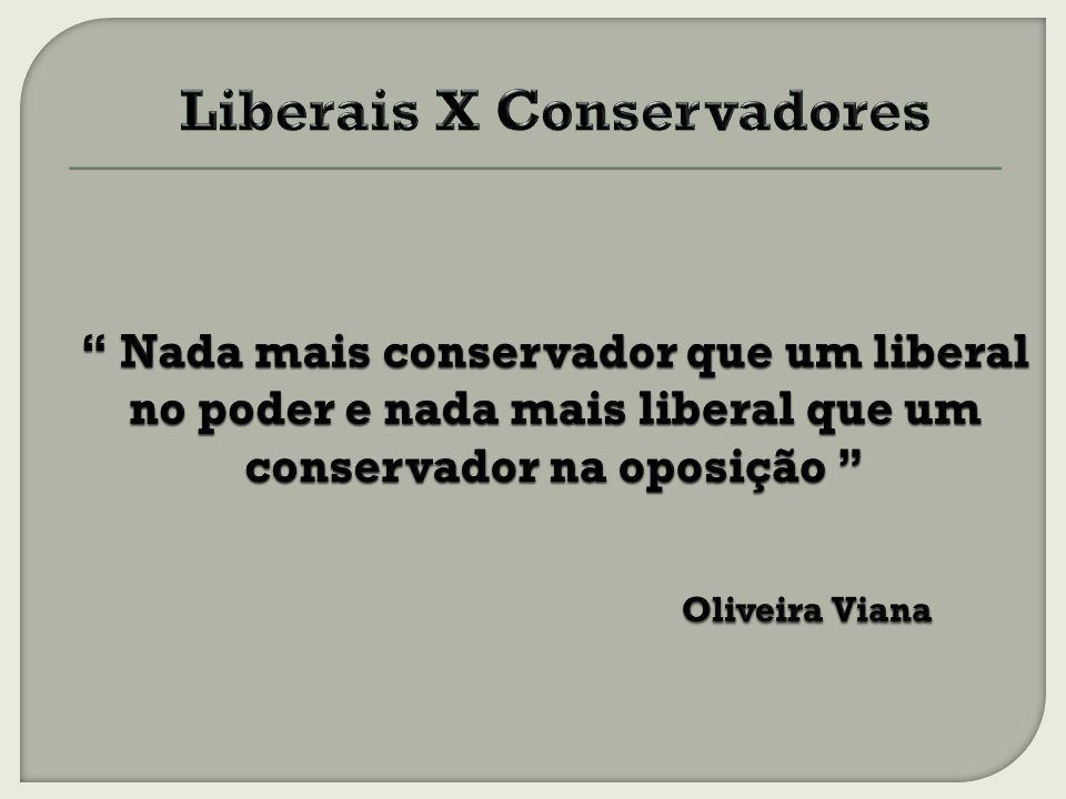 Liberais X Conservadores