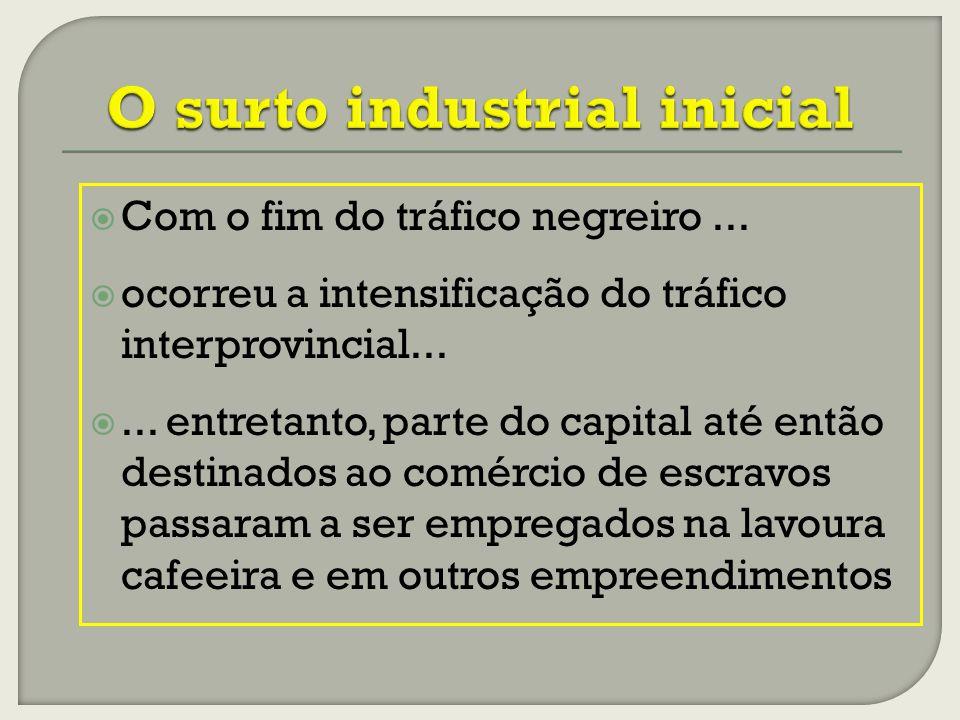 O surto industrial inicial
