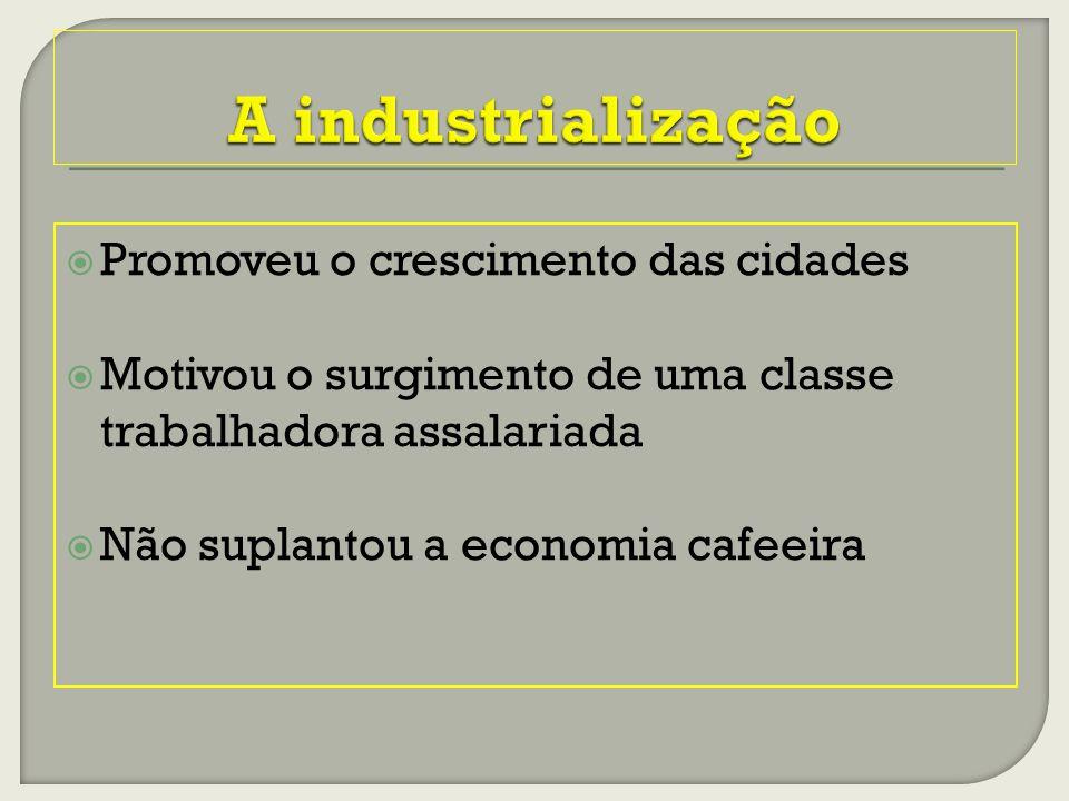 A industrialização Promoveu o crescimento das cidades