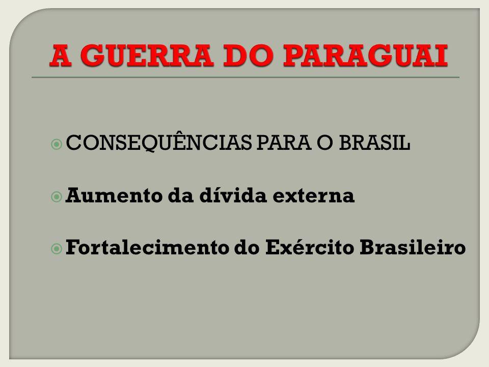 A GUERRA DO PARAGUAI CONSEQUÊNCIAS PARA O BRASIL