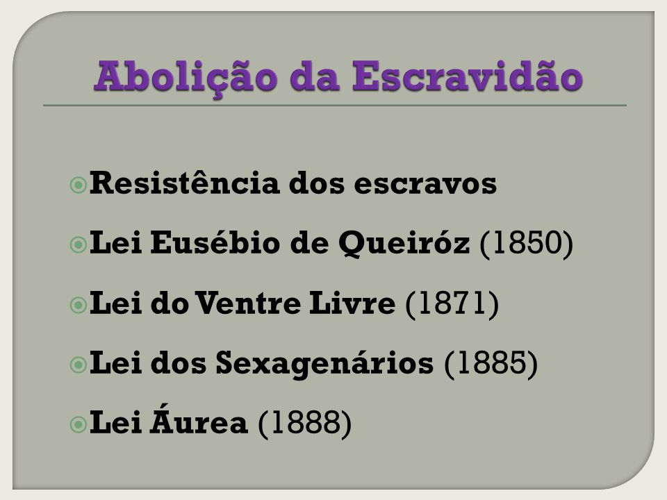 Abolição da Escravidão