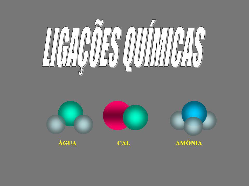 LIGAÇÕES QUÍMICAS ÁGUA CAL AMÔNIA